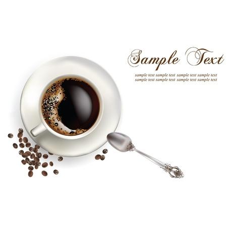 kávé a csészében Illusztráció