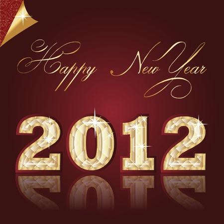 new year 2012. Diamond figures in the background. vector Illustration