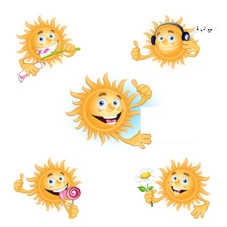 the sun is smiling Vector