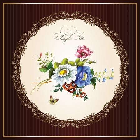 postal vintage: Postales de la vendimia con las flores hermosas