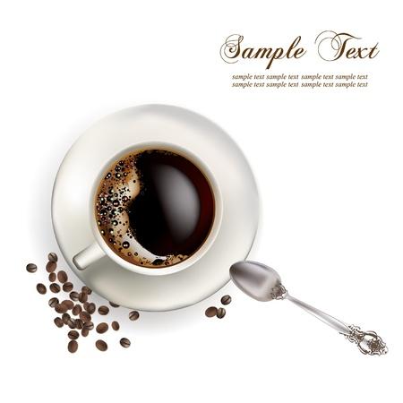 csésze kávé reális illusztráció