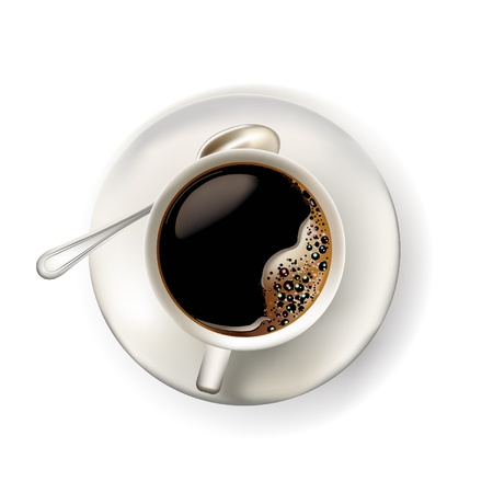 cup of coffee realistic illustration
