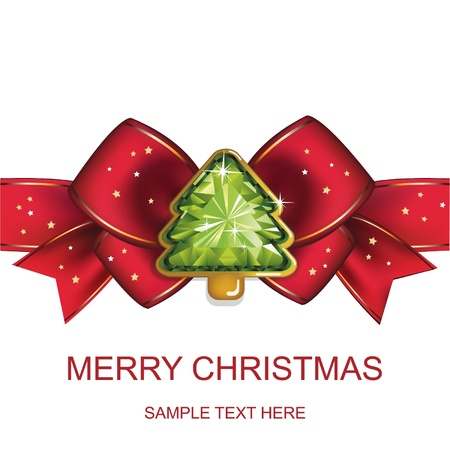december: Christmas and New Year  Christmas background with Christmas tree  vector illustration  Illustration