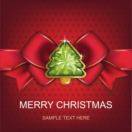 Christmas and New Year  Christmas background with Christmas tree  vector illustration  Stock Vector - 16255462