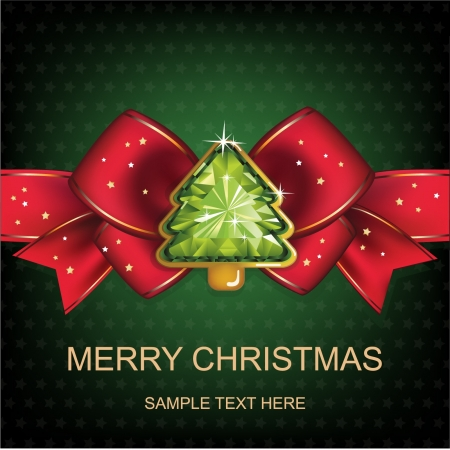 Christmas and New Year  Christmas background with Christmas tree  vector illustration  Illustration
