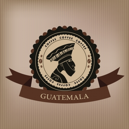 Coffee label  Guatemala