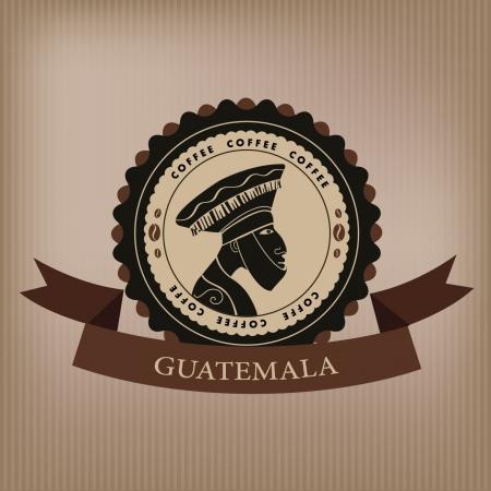 latte art: Coffee label  Guatemala