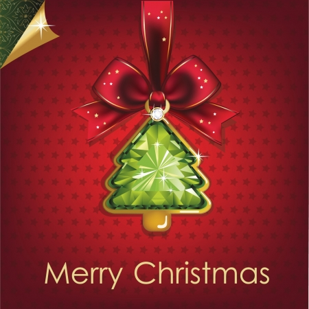 Christmas and New Year  Christmas background with Christmas tree illustration  Vector