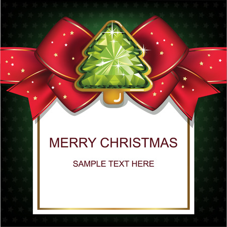Christmas and New Year. Christmas background with Christmas tree. Vector illustration. Illustration