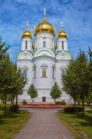 The Russian Orthodox Church is the Church of St. Catherine in Pushkin city