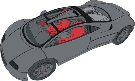 chauffeur: car Illustration