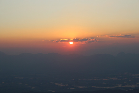 doi: Sunset at Doi Mon Lan in Chiang Mai, Thailand