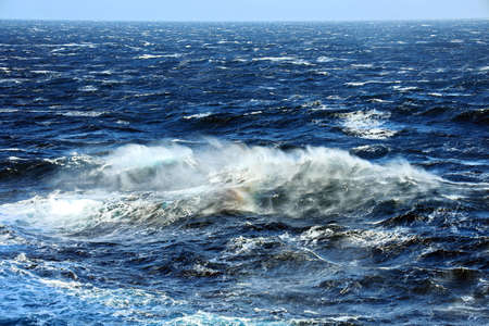 Stormy weather and waves in the pacific ocean