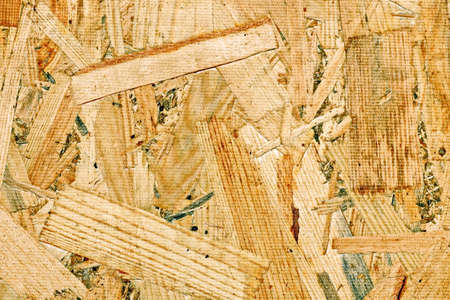 Wood shavings pressed into slabs used as a base and background.