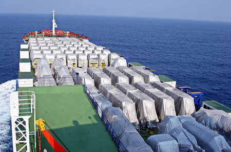 Ro-Ro is a specialized vessel for transporting vehicles and containers in the port and on the high seas.