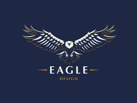 El águila voladora. Emblema de vector.