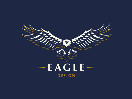 The flying eagle. Vector emblem. 版權商用圖片 - 105442337