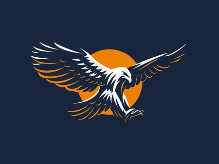 Der fliegende Adler. Vektoremblem.