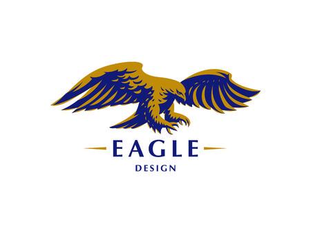 The flying eagle. Vector emblem.