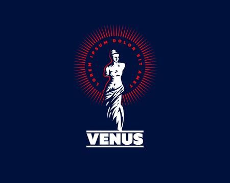 The statue of Venus is mondial. Vector illustration. Illustration