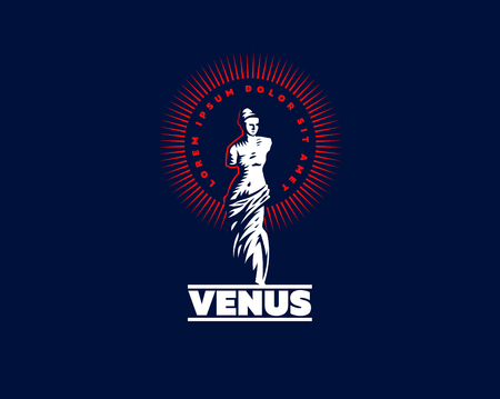 The statue of Venus is mondial. Vector illustration.