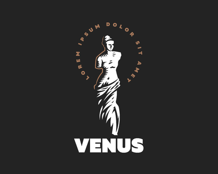 The statue of Venus is mondial. Vector illustration. 일러스트