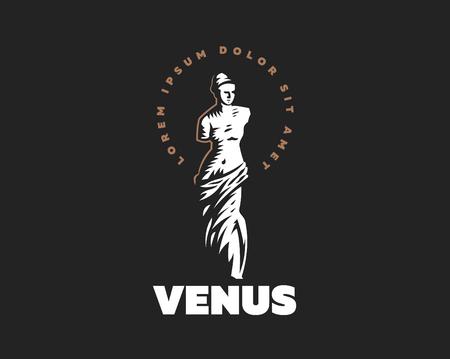 Die Statue der Venus ist Mondial. Vektorillustration.