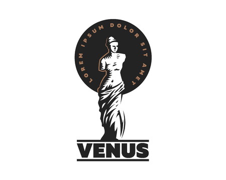 The statue of Venus is mondial. Vector illustration.  イラスト・ベクター素材