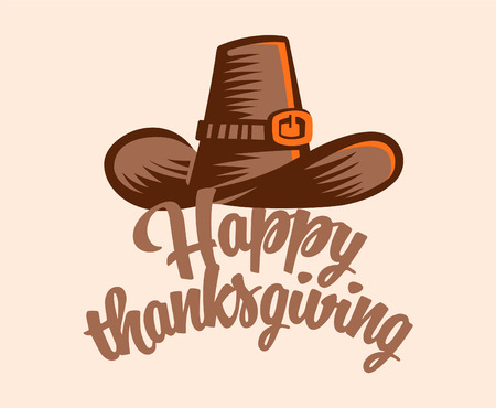 A vintage hat for Thanksgiving. Vector illustration. Vectores