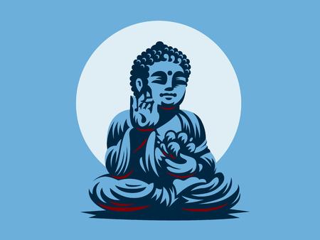 Buddha. Vector emblem. Vector Illustratie