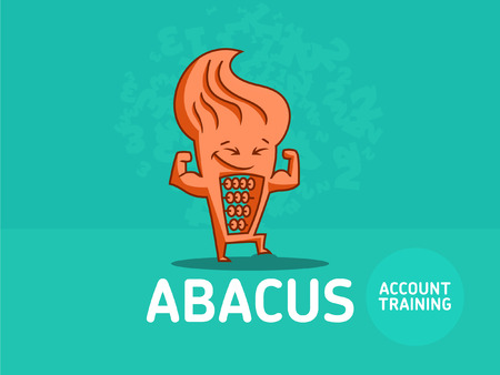 Character of the abacus. Vector illustration.
