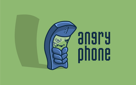 Character angry phone