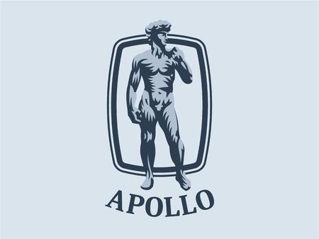 Statue of David or Apollo. Vector illustration. Standard-Bild - 107597648