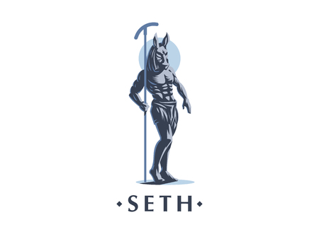 The Egyptian god Seth. Logo Vector emblem. Ilustração