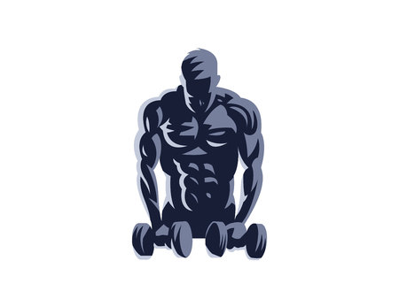 Sport. Sporty and athletic man. Muscular body. Vector illustration. 矢量图像