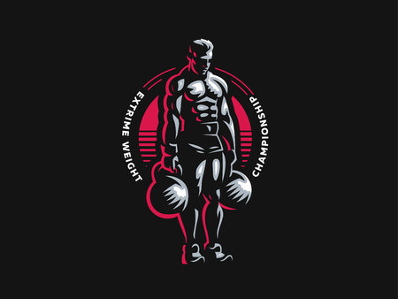 Sport. Sporty and athletic man. Muscular body. Vector illustration.