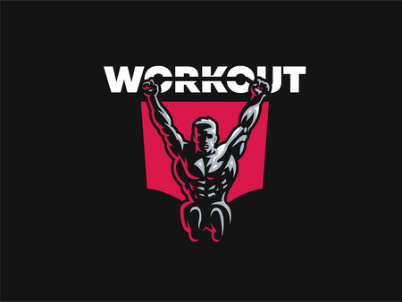 Sport. Sporty and athletic man. Muscular body. Vector illustration. Illustration