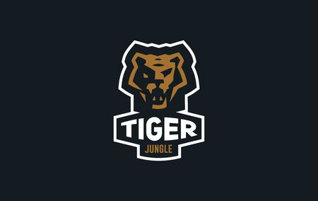 The image of a tiger in a minimalist style. Vector illustration