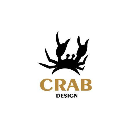 Sea crab with claws. Vector illustration. Ilustração