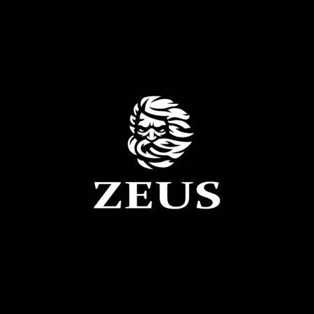 Dieu grec Zeus. Un homme avec une barbe grise. Illustration vectorielle. Vecteurs