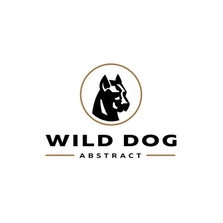 The stylized image of a dog. Vector illustration.