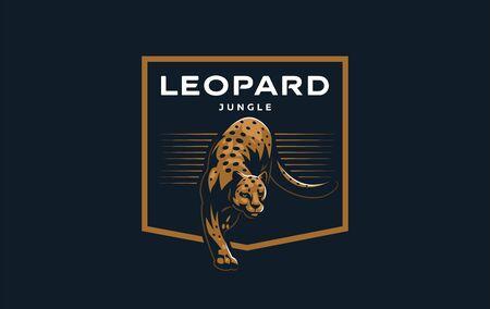 Wild cat. A puma or leopard licks its cub. Vector illustration. Stock Illustratie