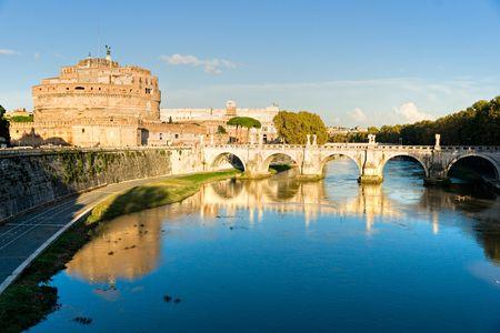 Castel Sant'angelo and Bernini's statue on the bridge, Rome, Italy. Stock Photo - 6128442