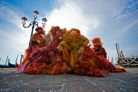 masks in Venice, Italy. photo