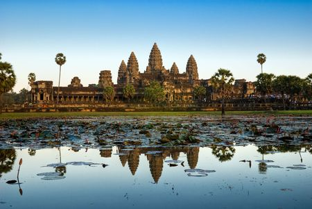 temple tower: Angkor Wat Temple, Siem reap, Cambodia. Stock Photo
