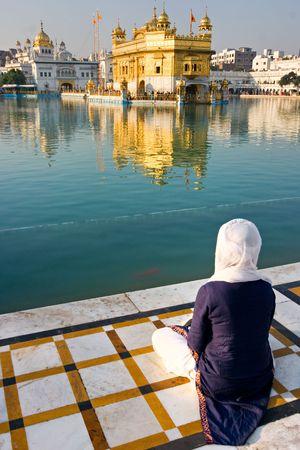 amritsar:  Golden Temple in Amritsar, Punjab, India.