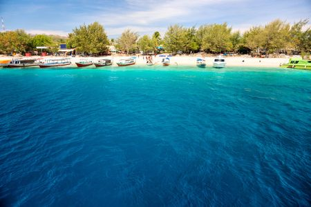 Beautiful sea and coastlines of Gili Trawangan, Indonesia. Stock Photo - 6143633