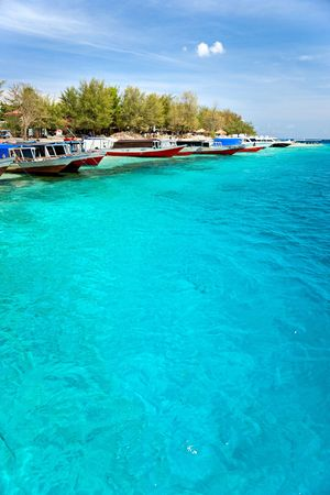 Beautiful sea and coastlines of Gili Meno, Indonesia. Stock Photo - 6143634