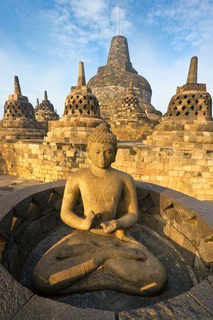 Borobudur Temple at sunset. Yogyakarta, Java, Indonesia. photo