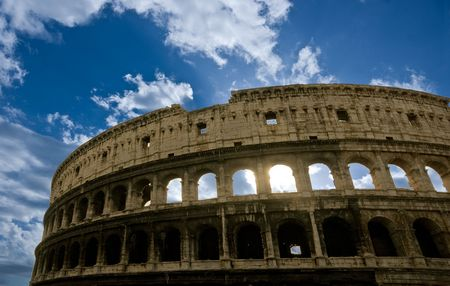 The Majestic Coliseum Amphitheater, Rome, Italy. photo